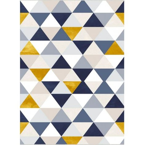 tapis triangle bleu dimensions 80x150