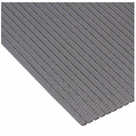 tapis de salle de bain en mousse 65 x 90 cm pvc gris