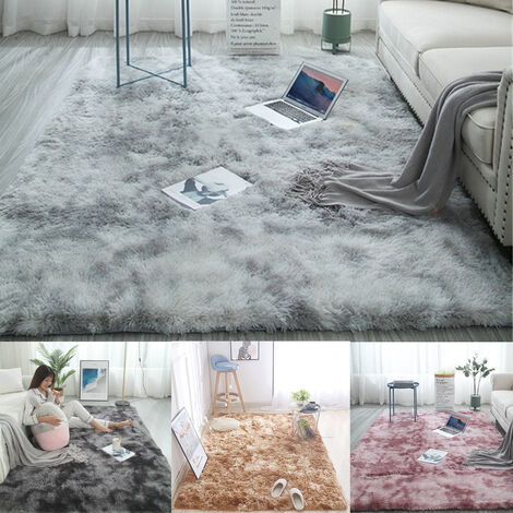 tapis balcon tapis poilu tapis fausse fourrure tapis de chambre tapis doux maison tapis gris clair gris clair 160 x 200 cm