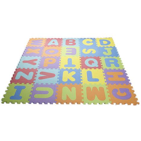 puzzle tapis mousse non toxique 36 pcs jeu educatif enfants de developpement doux tapis bebe jouer puzzle nombre lettre tapis