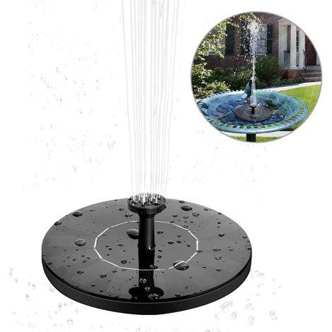 fontaine solaire 1 4 w pompe a eau solaire fontaine solaire flottante avec 4 buses solaire pompe pour les bains d oiseaux piscine bassin exterieur