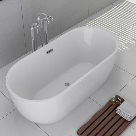baignoire ilot aspen acrylique monobloc blanc