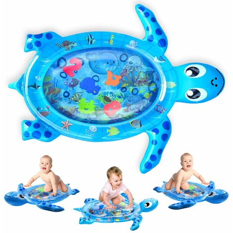 tapis de jeu gonflable pour bebe motif tortue grand ventre tapis de temps tapis de l eau de mer anti fuite multicolore jouet pour bebe pour le