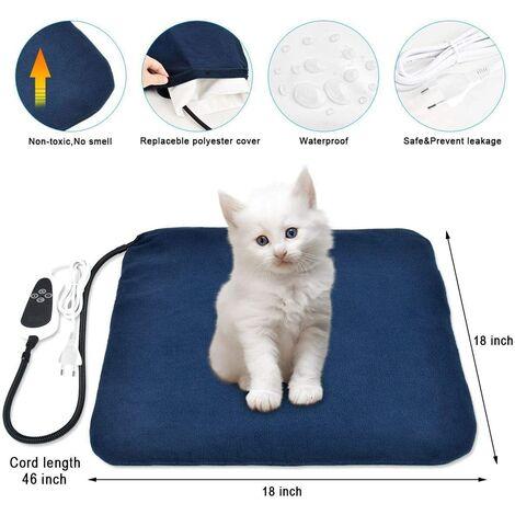 coussin chauffant pour animaux domestiques coussin chauffant electrique pour tapis de rechaud pour chiens et chats a extinction automatique 45x