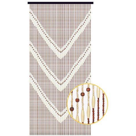 rideau de porte en bois a motif ethnique