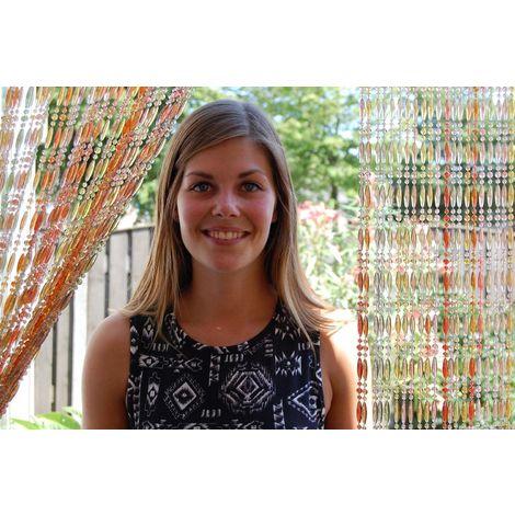 rideau de porte en perles multicolores stresa 90x210 cm multicolore