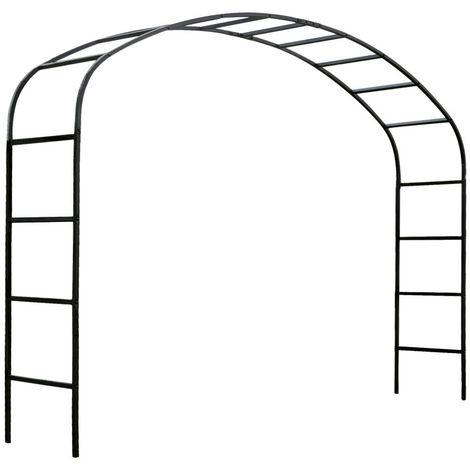 arche de jardin 2m50 en acier galvanise ellipse noir