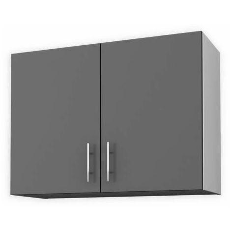 obi meuble haut de cuisine l 80 cm gris mat
