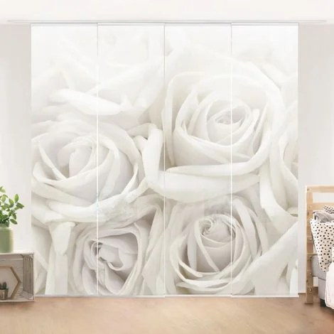 ensemble de rideaux coulissants white