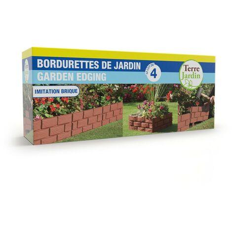 bordures de jardin imitation brique vendu par 4
