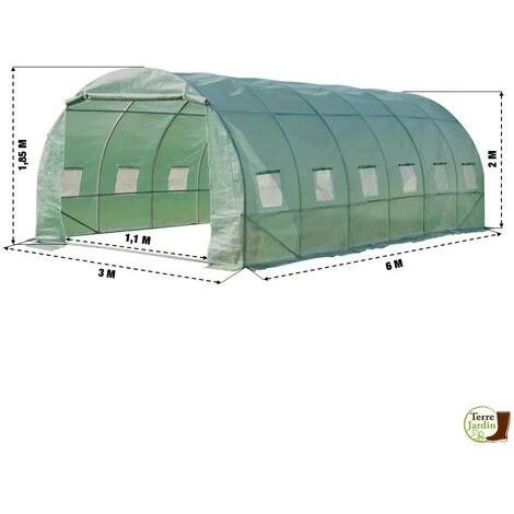 https www manomano fr p grande serre de jardin tunnel 7 arceaux pro galvanise 18m 6x3x2m 280765