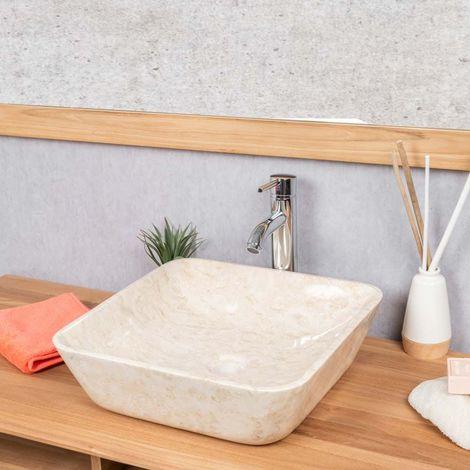 vasque salle de bain carre en marbre