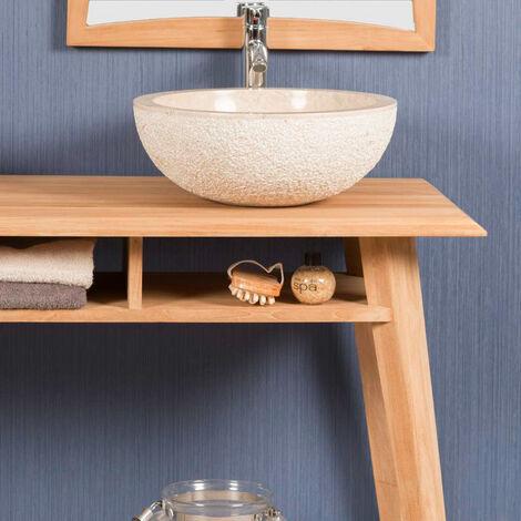 meuble sous vasques en teck tango 140 cm