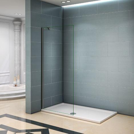 paroi de douche 50x200cm paroi de douche a l italienne verre anticalcaire avec barre de fixation 45cm