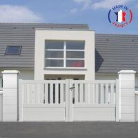 portail aluminium battant semi ajoure