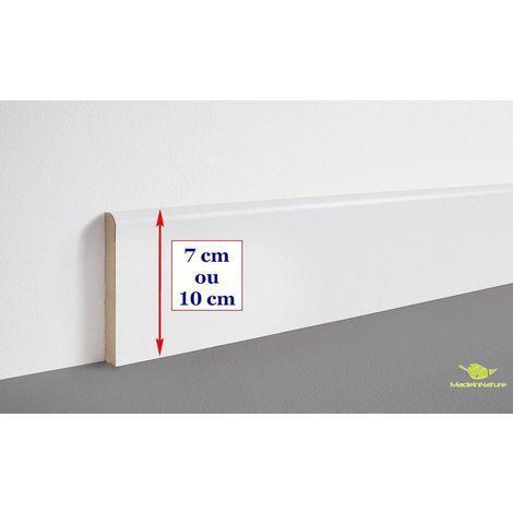 plinthe en medium prepeinte blanche de tres grande qualite fabrication francaise differentes dimensions et finitions 7 cm finition arrondi 8