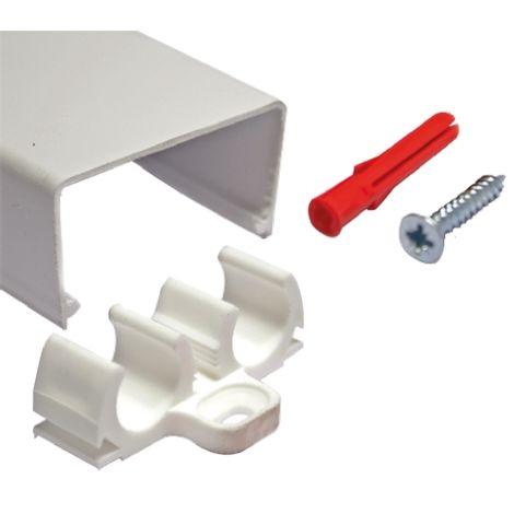 Cache Blanc Rs Pro Pour Conduit Diametre 15mm