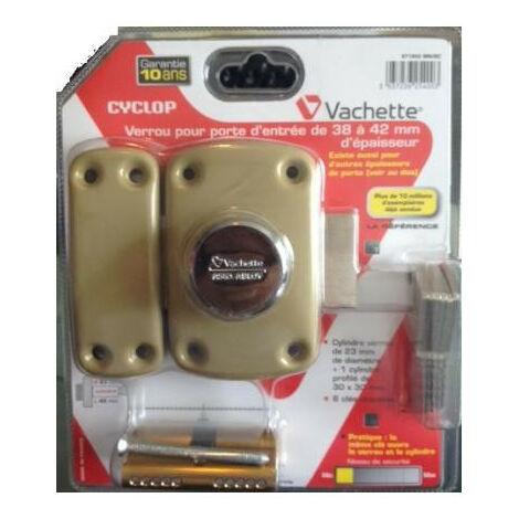 verrou a bouton et cylindre cylindre s entrouvrant cyclop vachette