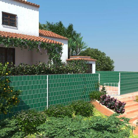 rouleau de brise vue vert 19cm x 40m paravent couverture de cloture en pvc pour jardin balcon terrasse gpj040l vert