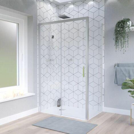 porte de douche d angle avec paroi coulissante nerina pmr 120x80 cm
