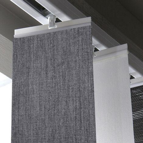 5 barrettes hautes blanches pour store californien 89 mm