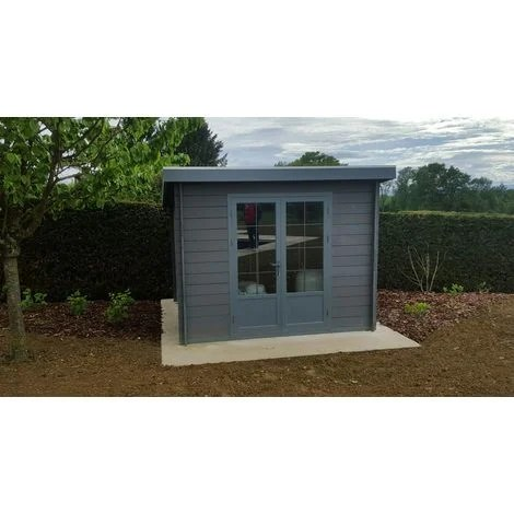 abri de jardin composite 3x3 toit plat contemporain