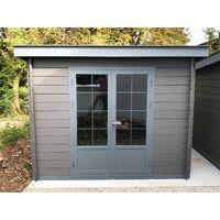 abri de jardin composite 3x3 toit plat