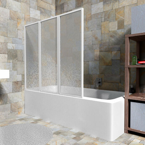 pare baignoire pliant 120 cm x 117 cm en polypropylene