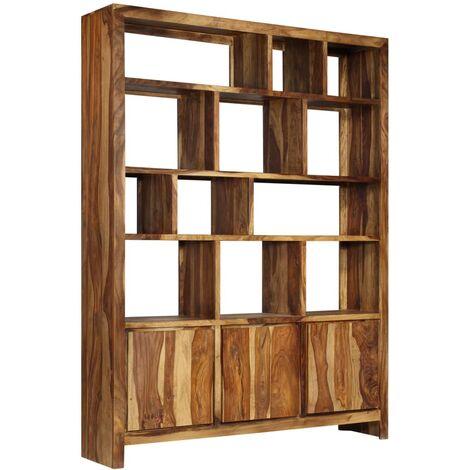 bibliotheque bois massif de sesham 150 x 35 x 200 cm
