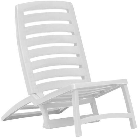 chaise de plage pliable pour enfants 4 pcs plastique blanc