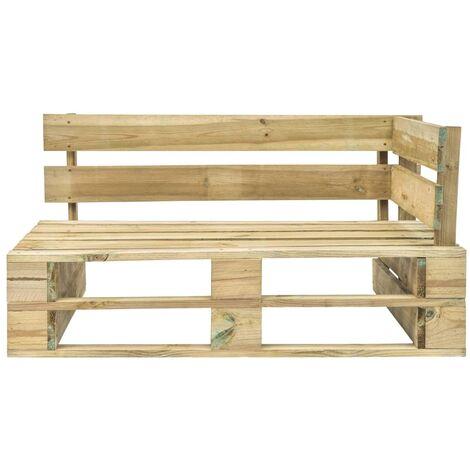 banc d angle palette de jardin bois