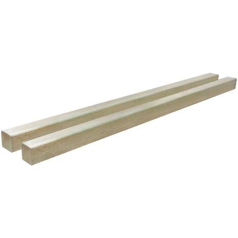 vidaxl poteaux de cloture 2 pcs bois de pin impregne 9x9x200 cm