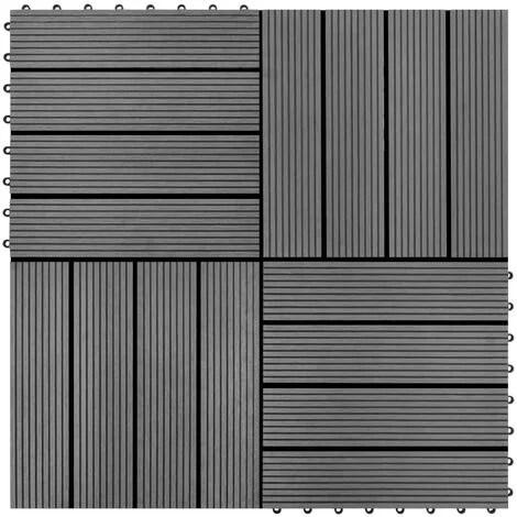 carreaux de terrasse wpc 30x30 cm 11 pcs 1 m2 gris