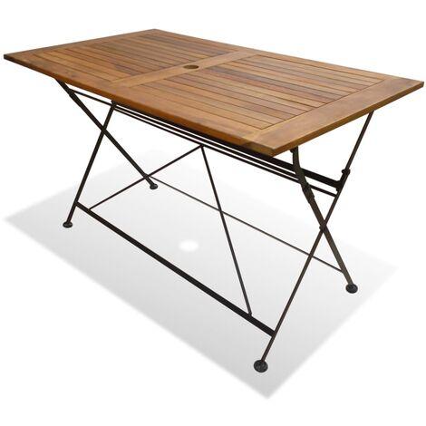 table pliable de jardin 120 x 70 x 74 cm bois d acacia massif