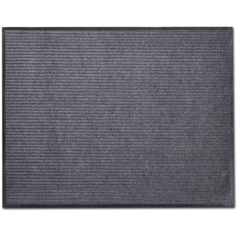 tapis d entree pvc gris 90 x 150 cm
