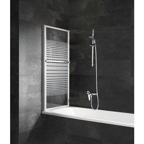 pare baignoire coulissant et rabattable 70 118 x 140 cm schulte paroi de baignoire extensible 2 volets verre 3 mm profile alu nature decor