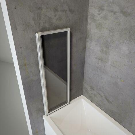 pare baignoire rabattable sans percer ecran de baignoire pivotant a coller 127 x 120 cm paroi de baignoire schulte verre 3 mm 3 volets verre