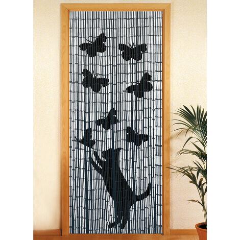 rideau bambou rideau de porte chat et papillon wenko