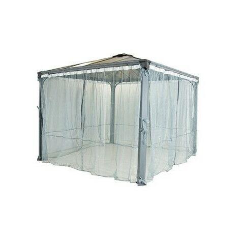 set de 2 moustiquaires pour tonnelles palermo palram 3 x 3 m et 3 6 x 3 6 m