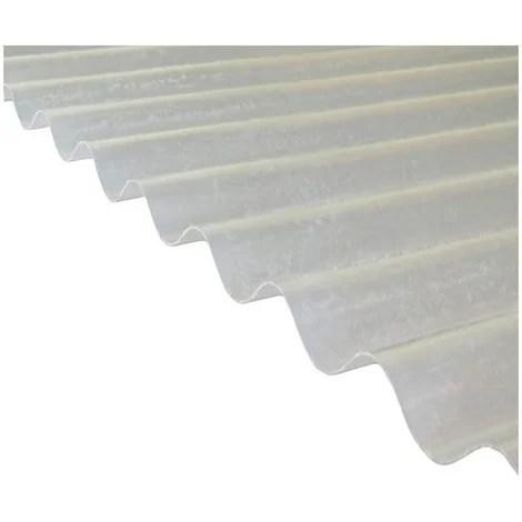Plaque Polyester Ondulee Toit Translucide Po 76 18 Petite Onde Coloris Translucide Largeur Totale De La