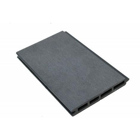 Lame De Cloture Bois Composite L 148 Cm L 15 6 Cm E 19 Mm Coloris Gris Anthracite Epaisseur 19 Mm Largeur 15 6 Cm Longueur 148 Cm
