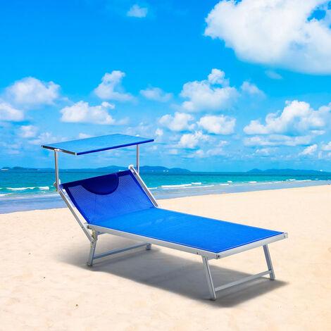 bain de soleil transat taille maxi professionnels aluminium lits de plage grande italia extralarge stock 20 pcs bleu