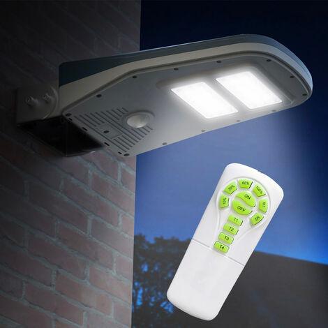 Lampadaire Solaire A Led Lampe Poteaux D Exterieur Avec Telecommande Et Panneau Solaire Callisto