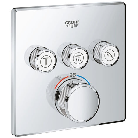 grohe mitigeur thermostatique encastre 3 sorties grohe grohtherm smartcontrol