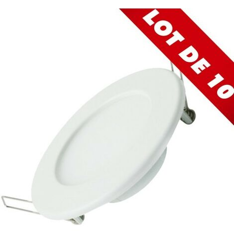 lot de 10 spot encastrable led panel extra plat 12w temperature de couleur blanc chaud 3000k