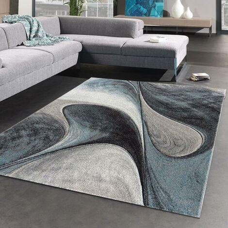 40x60 un amour de tapis petit tapis d entree interieur tapis salon moderne design graphique poils ras rectangulaire tapis entree bleu gris
