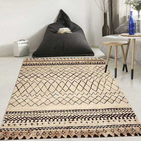80x150 un amour de tapis tapis salon moderne design scandinave tapis berbere ethnique turquoise petit tapis salon poils ras tapis beige et