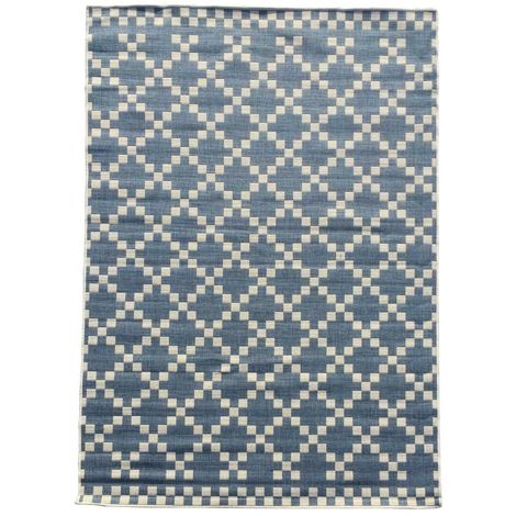 tapis exterieur 120x170 cm rectangulaire bc gea reversible bleu terrasse jardin adapte au chauffage par le sol