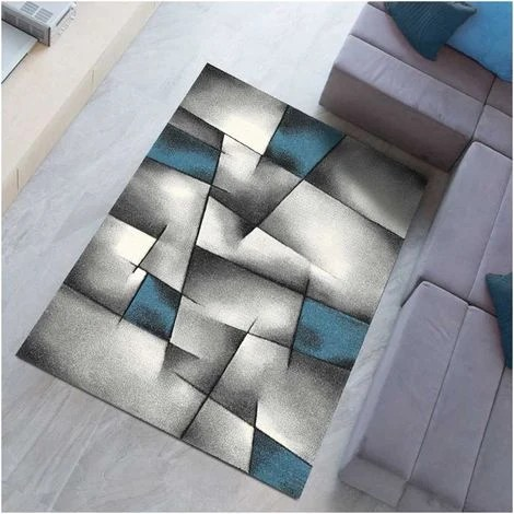 60x110 un amour de tapis petit tapis d entree interieur tapis salon moderne design poils ras tapis chambre turquoise tapis entree bleu gris