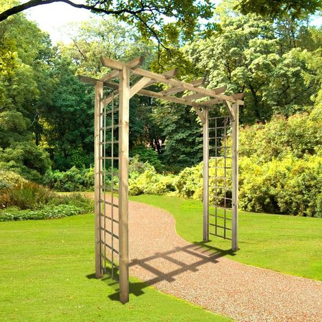 arche de jardin droite en bois traite jasmin
